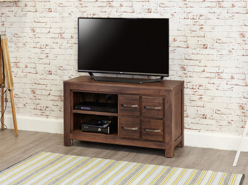 Baumhaus Mayan Walnut Four Drawer Television Cabinet