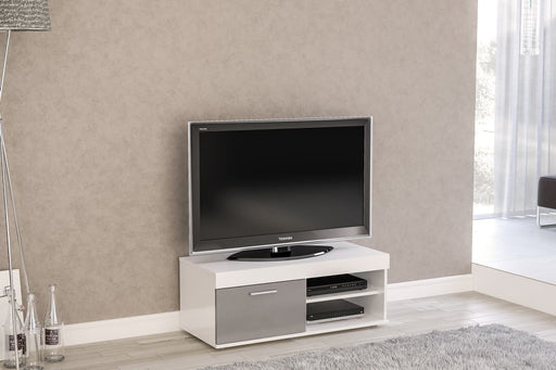 Birlea Edgeware Small Tv Unit White & Grey