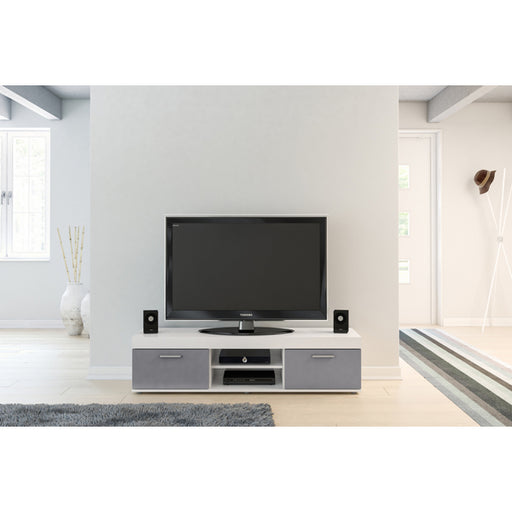 Birlea Edgeware Tv Unit White & Grey
