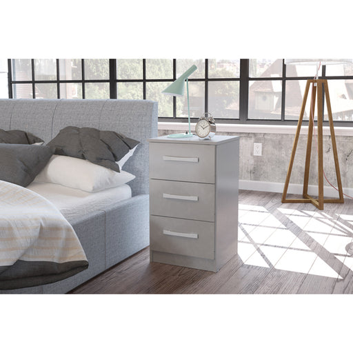 Birlea Lynx 3 Drawer Bedside Grey