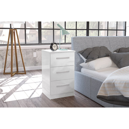Birlea Lynx 3 Drawer Bedside White