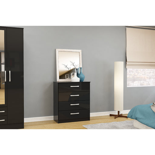 Birlea Lynx 4 Drawer Chest Black