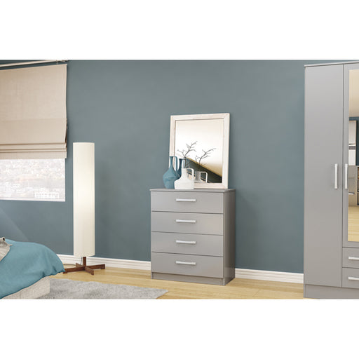 Birlea Lynx 4 Drawer Chest Grey