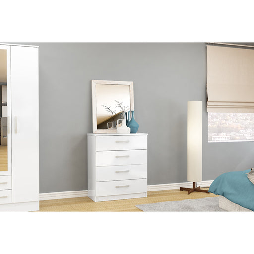 Birlea Lynx 4 Drawer Chest White