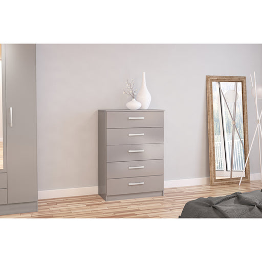 Birlea Lynx 5 Drawer Chest Grey
