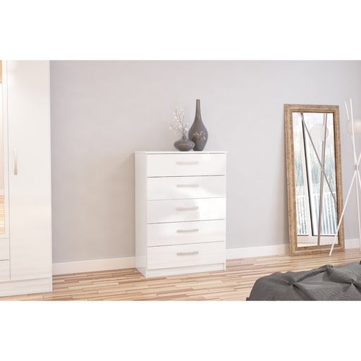 Birlea Lynx 5 Drawer Chest White