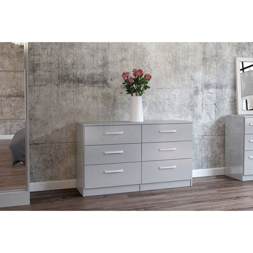 Birlea Lynx 6 Drawer Chest Grey