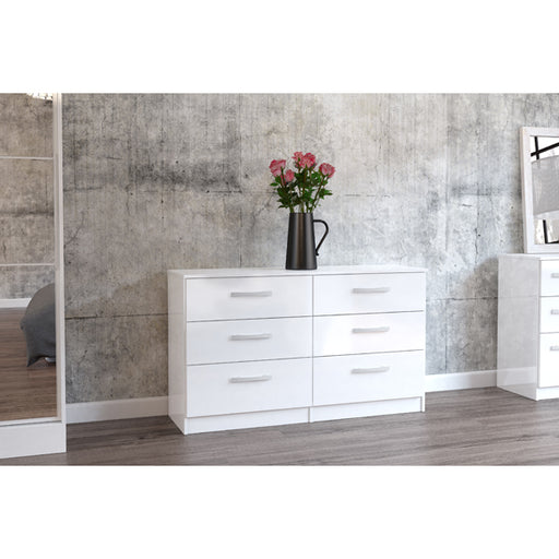 Birlea Lynx 6 Drawer Chest White