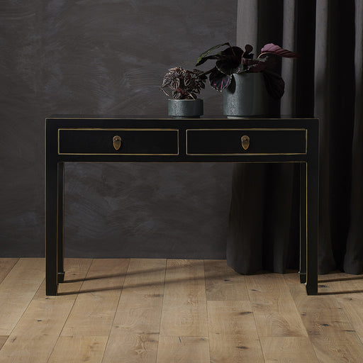 Baumhaus 40511 - The Nine Schools Qing Black and Gilt Large Console Table