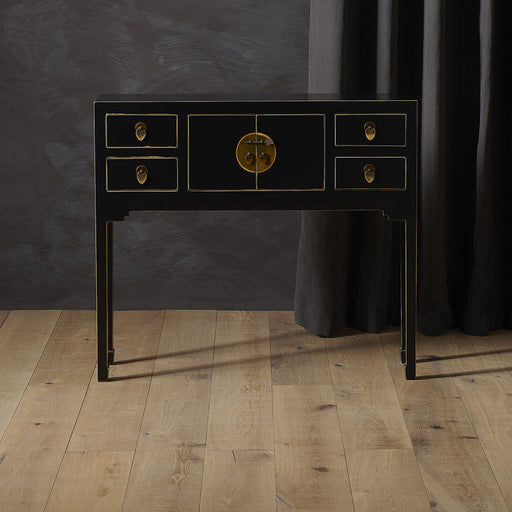 Baumhaus 40512 - The Nine Schools Qing Black and Gilt Small Console Table