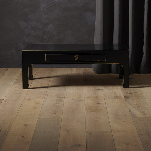 Baumhaus 40544 - The Nine Schools Qing Black and Gilt Coffee Table with Drawer