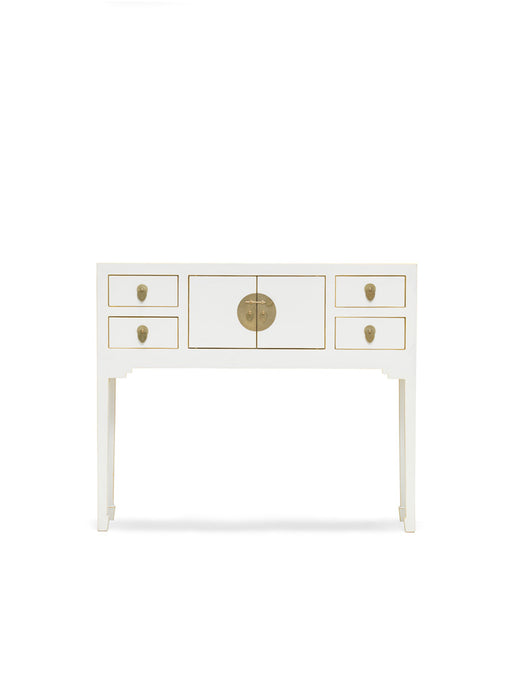 Baumhaus 40412 - The Nine Schools Qing White Console Table