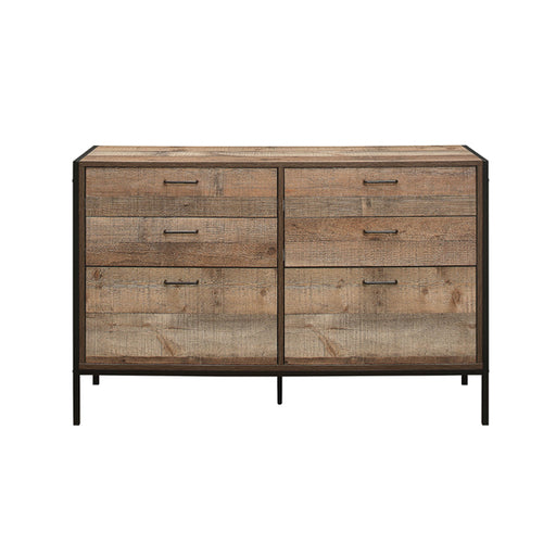 Birlea Urban 6 Drawer Wide Chest Rustic