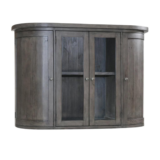 Rowico Aylesbury Grey Ash Hutch For Sideboard With 2 Glass Doors