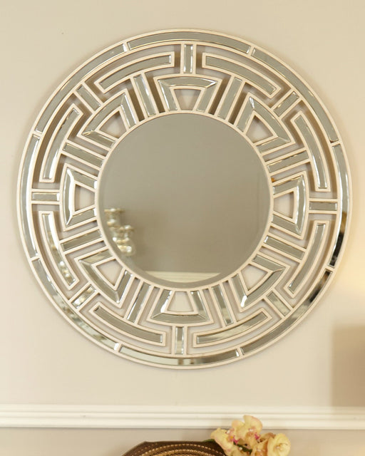 Champagne Amber Round Wall Mirror