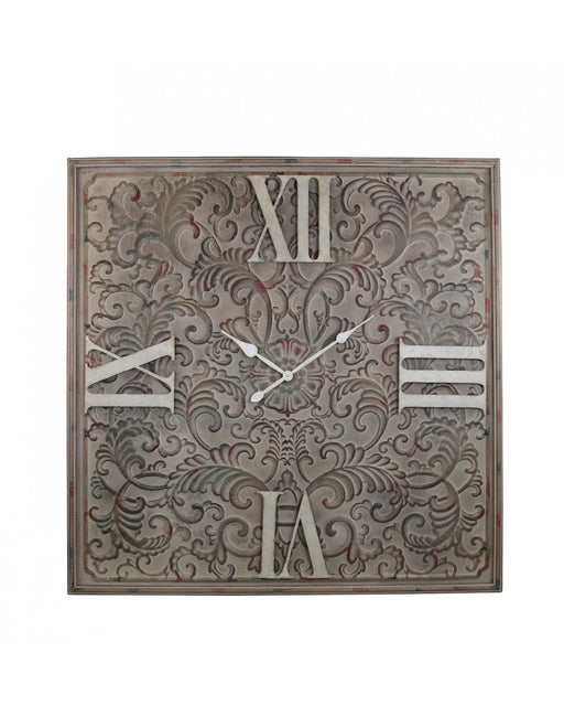 123cm Antique Brown Metal Wall Clock