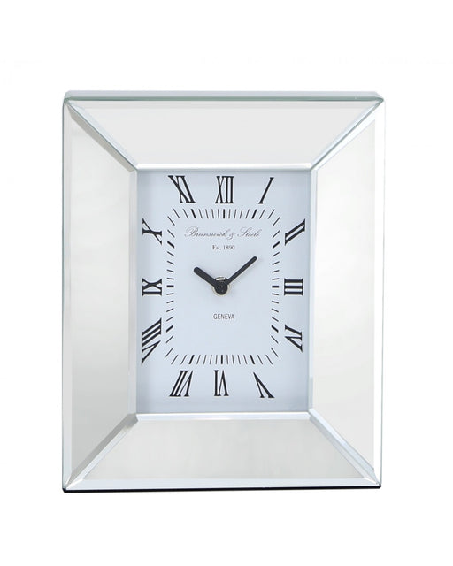 Mirrored Box Table Mantle Clock With A Cube Design
