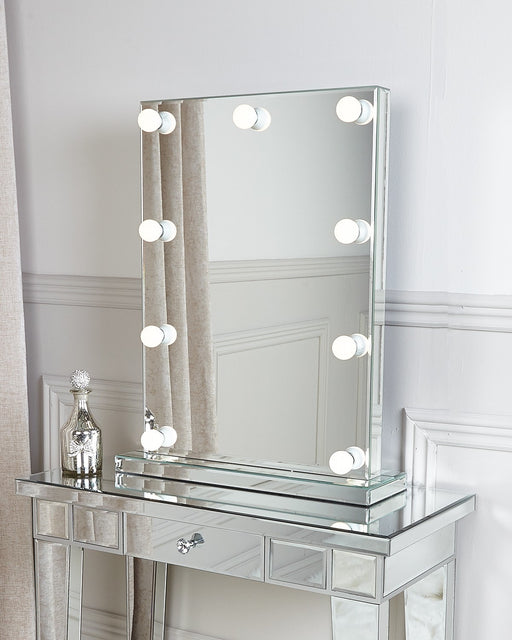 Hollywood Dressing Table Vanity Mirror With 9 Dimmable LED Light Bulbs