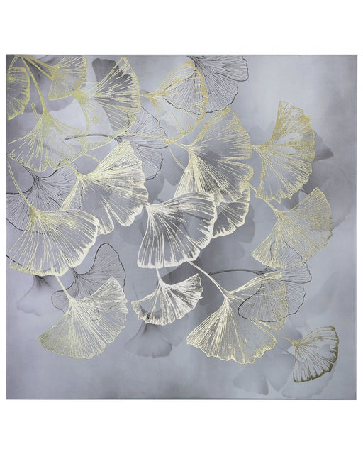 Gold Gingko Leaf Canvas Wall Art