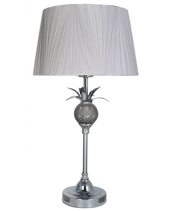 Pineapple Table Lamp With Light Grey Shade