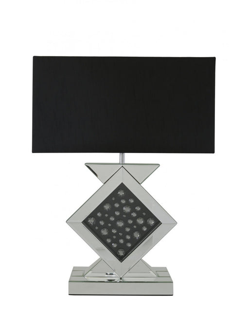 Dakota Black Mirror Diamond Shape Table Lamp