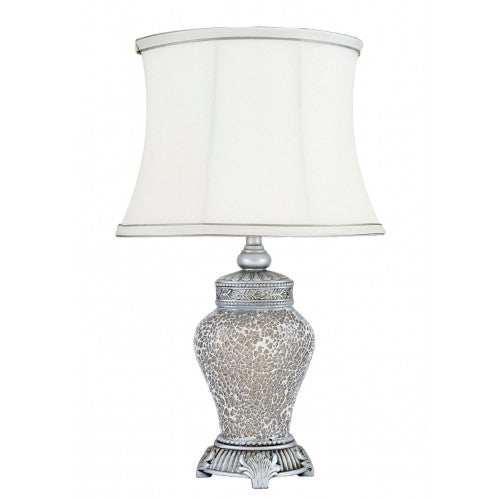 Champagne Sparkle Mosaic Regency Table Lamp With Ivory Shade