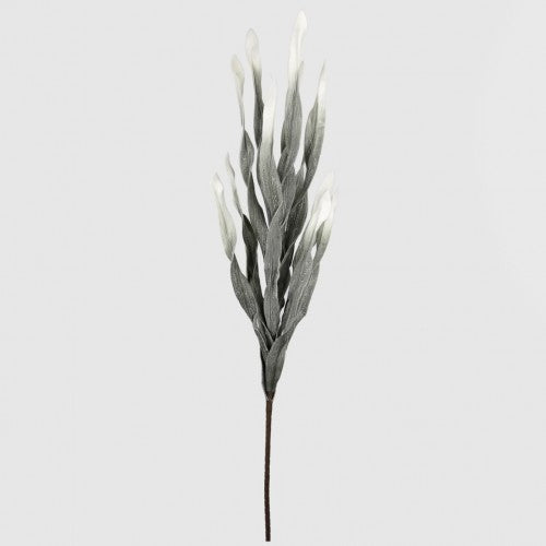 Grey Foam Single Slim Leaves Flower