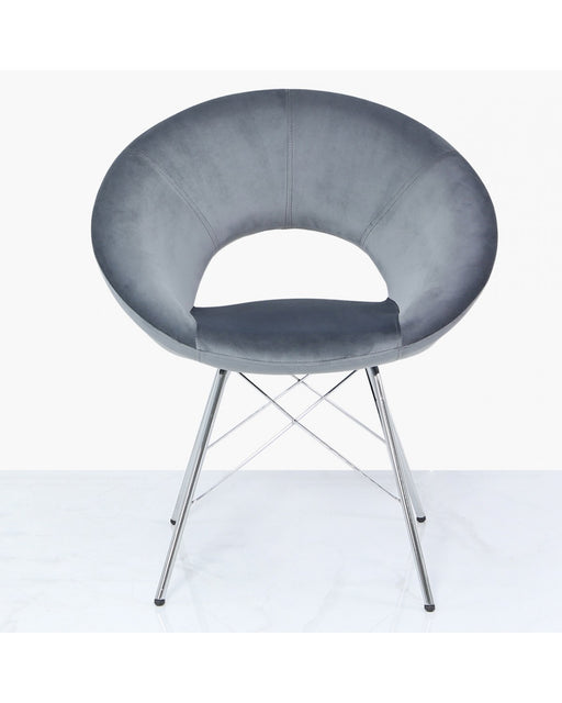 Orb Dining Chair Grey Velvet