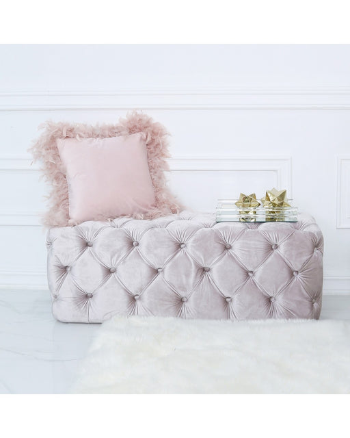 Belle Tufted Bench Soft Pink