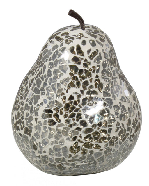 Mercury Sparkle Mosaic Pear Decoration