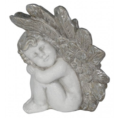 Left Facing White Angel Decoration