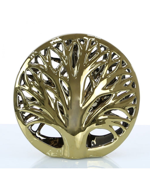 Small Gold Tree Disk Decoration