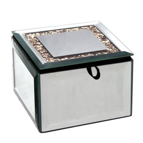 Diamond Crush Gold Trinket Box