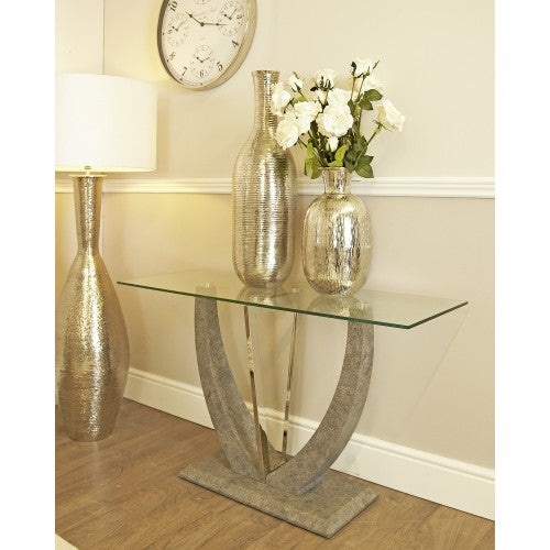 Levi Grey Console Table