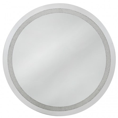 Diamond Crush Large Round Mirror