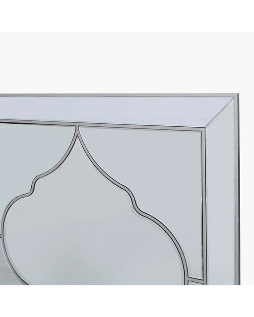 Sahara Marrakech Moroccan Mirrored Silver Large Wall Mirror