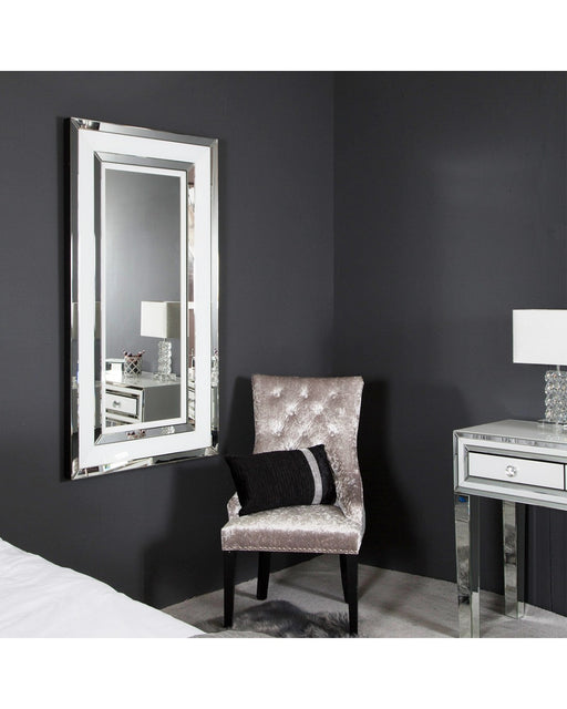 White Manhattan Medium Floor Mirror