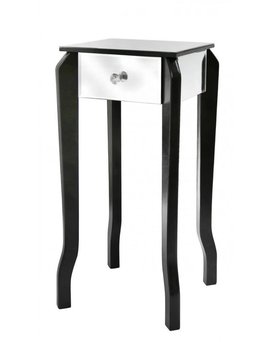 Paisley Black And Mirror End Table