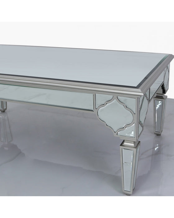 Sahara Marrakech Moroccan Silver Mirrored Low Coffee Table
