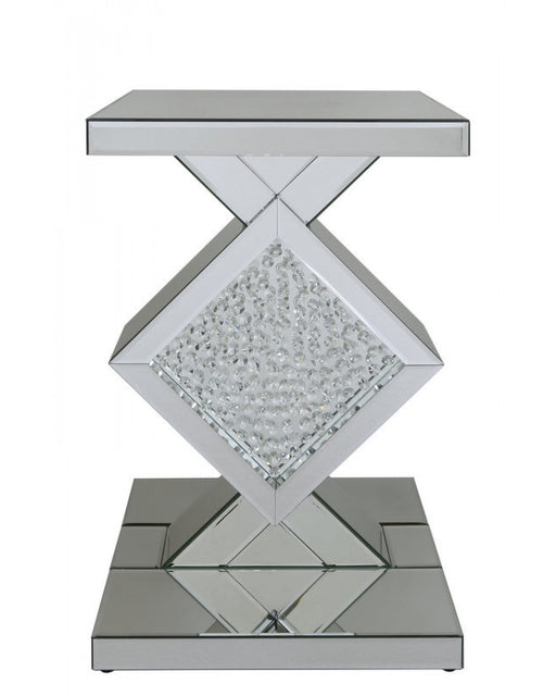 Alena Mirror Diamond End Table