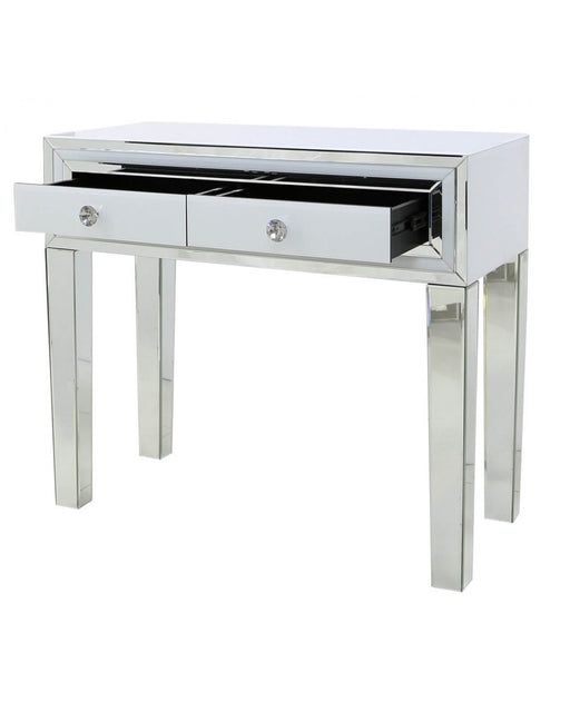 White Maya Mirror Console Table