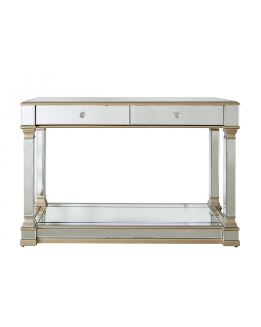 Champagne Amber Mirror Console Table
