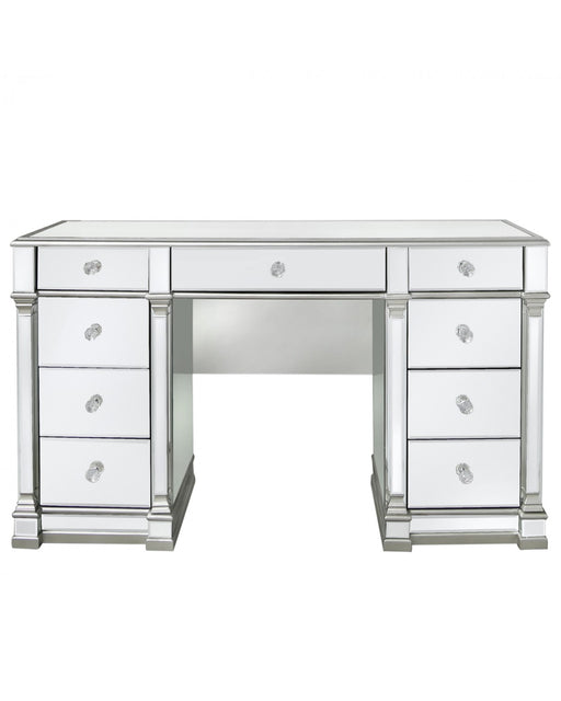 Silver Amber Mirror Dressing Table