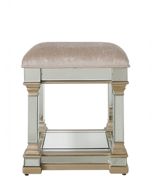 Amber Mirror Stool Champagne