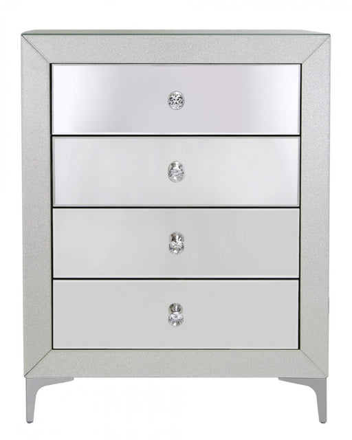 Avana Champagne Sparkle 4 Drawer Cabinet