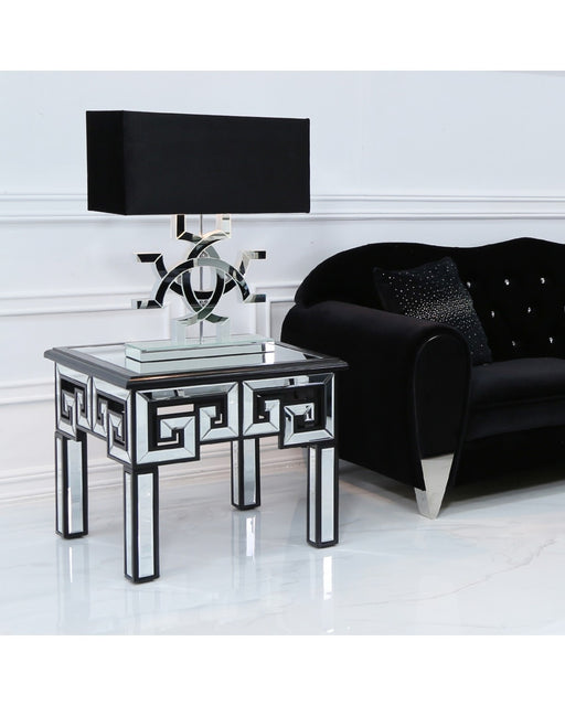 Harley Mirror End Table Black