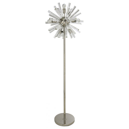 Nickel & Clear 9 Orbit Floor Lamp