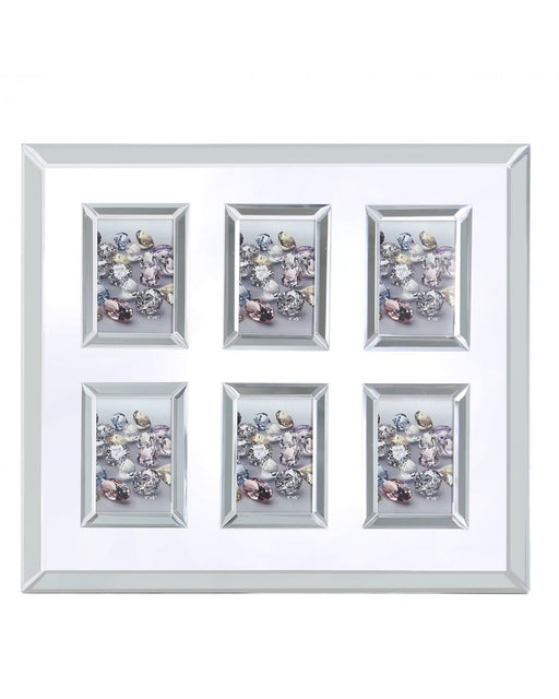 Valetta Glitz And Mirror 6 Aperture Picture Frame (4in X 6in)