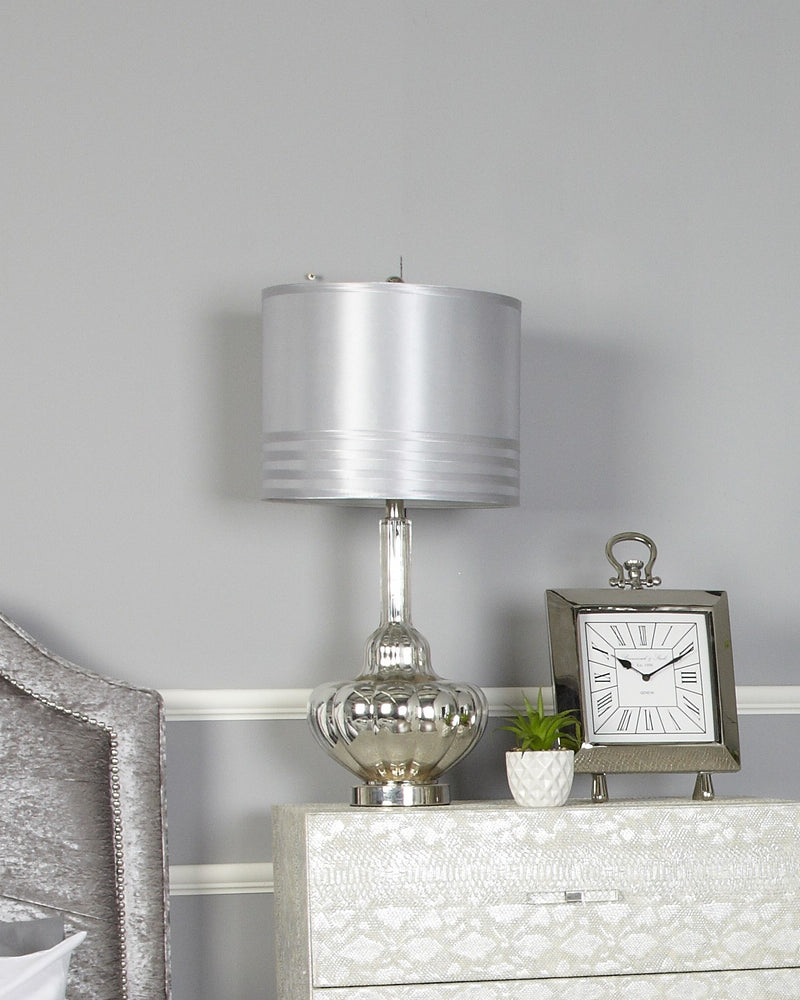 Silver Glass Silver Table Lamp