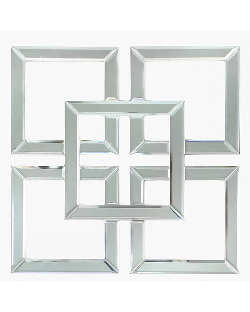 Small Geo Mirrored Wall Art 40cm